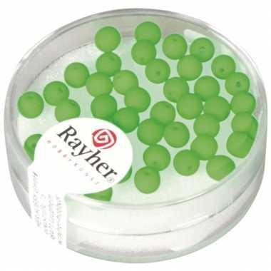 Fluoriserende groene kralen van 4 mm