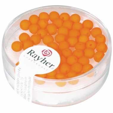 Fluoriserende oranje kralen van 4 mm