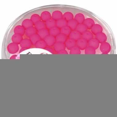 Fluoriserende roze kralen van 4 mm