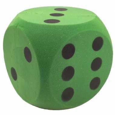 Foam dobbelsteen groen 4 x 4 cm