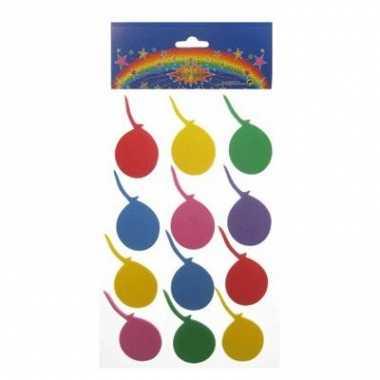 Foam stickers gekleurd ballon 24