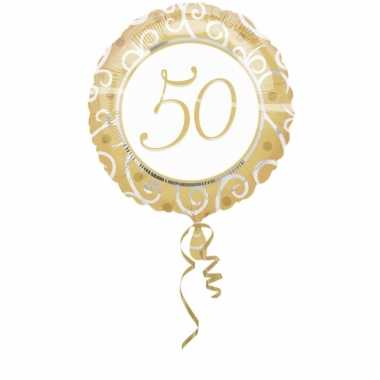 Folie ballon 50 goud 45 cm