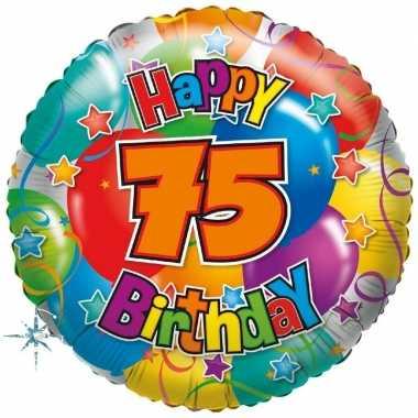 Folie ballon 75 jaar 45 cm
