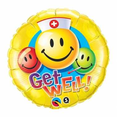 Folie ballon beterschap smiley 45 cm