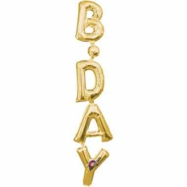 Folie ballon birthday goud 96 cm