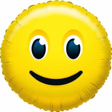 Folie ballon glimlach smiley 45 cm