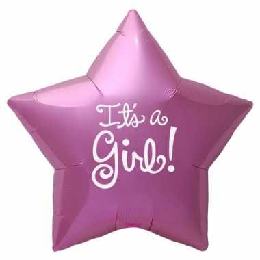 Folie ballon its a girl ster