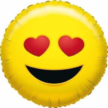 Folie ballon verliefde smiley 45 cm
