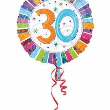 Folie ballonnen 30 jaar 45 cm