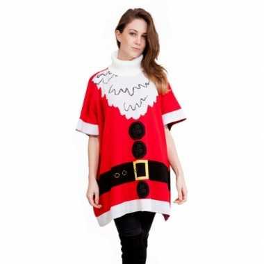 Foute dames poncho kerstvrouw