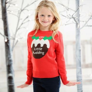 Foute kerst print trui rood voor kinderen