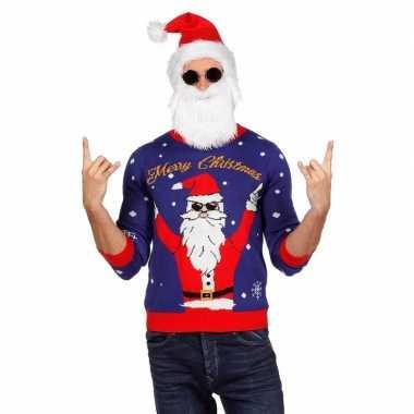 Foute kersttruien met rocking santa