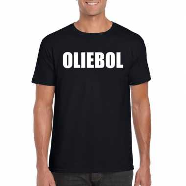 Foute oud en nieuw t-shirt oliebol zwart voor heren