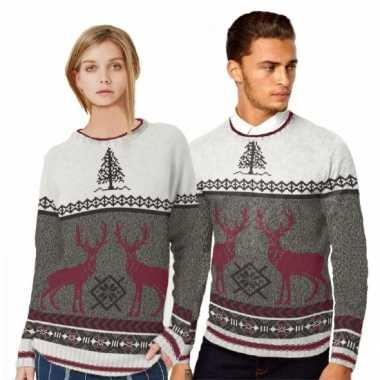 Foute print heren truien met rendieren