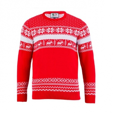 Foute print heren truien the red nordic