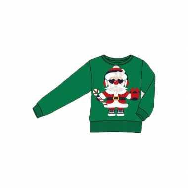 Foute print volwassenen truien met kerstman