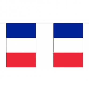 Frankrijk vlaggenlijn van stof 3 m