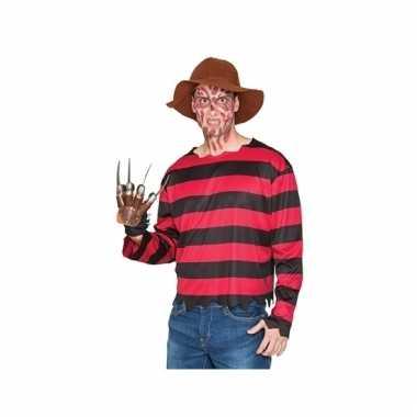 Freddy krueger look-a-like verkleedpak