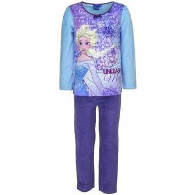 Frozen elsa velours pyjama blauw voor meisjes