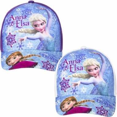 Frozen kinder petje paars