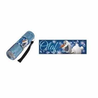 Frozen led zaklamp olaf blauw