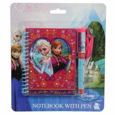 Frozen notitieboekje met pen trend