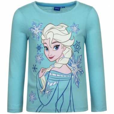 Frozen t-shirt elsa blauw