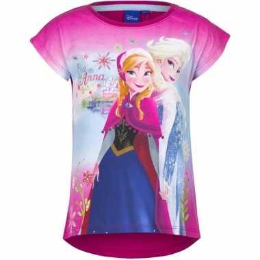 Frozen t-shirt roze voor meisjes