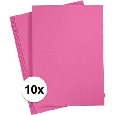 Fuchsia roze knutselpapier a4 formaat