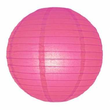 Fuchsia roze ronde lampion 25 cm