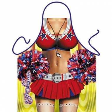 Funny bbq schorten cheerleader