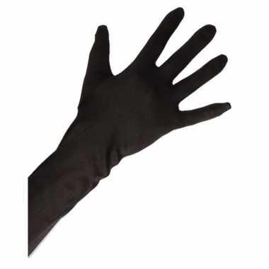 Gala handschoenen lang zwart voor volwassenen