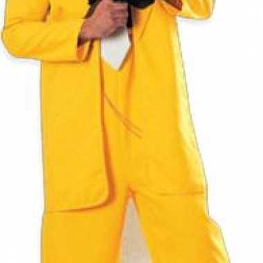 Gangster in geel pak versiering bord