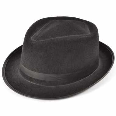 Gangster/maffia al capone hoedje zwart voor volwassenen