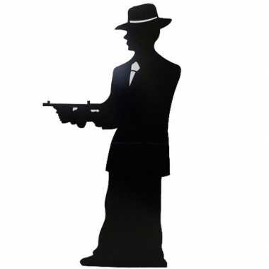 Gangster silhouette versiering bord