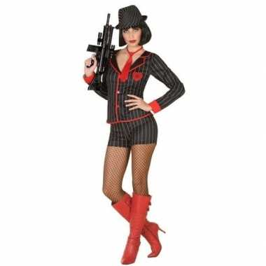Gangster verkleed kostuum voor dames