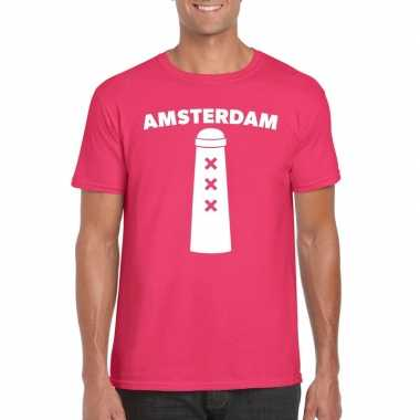 Gay pride amsterdammertje shirt roze heren