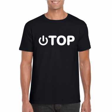 Gay shirt power top zwart heren