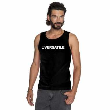 Gay singlet shirt/ tanktop power versatile zwart heren