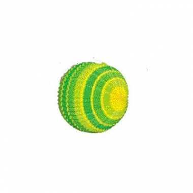 Geel en groen gekleurde lampion 26cm