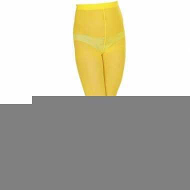 Geel gekleurde panty voor kids