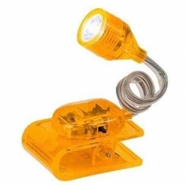 Geel leeslampje op klem 4 cm