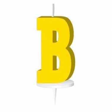 Geel naam kaarsje letter b