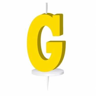 Geel naam kaarsje letter g