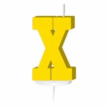 Geel naam kaarsje letter x