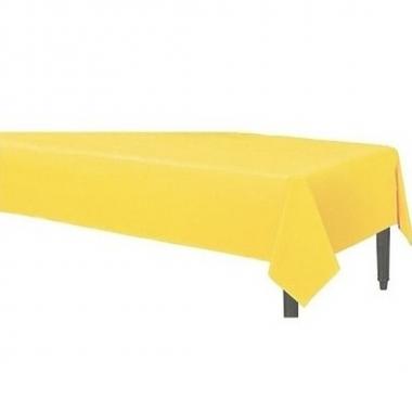 Geel tafelkleed 120 x 180 cm stof/textiel
