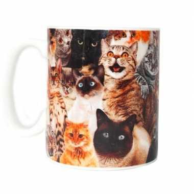 Gek van katten cadeau koffiemok