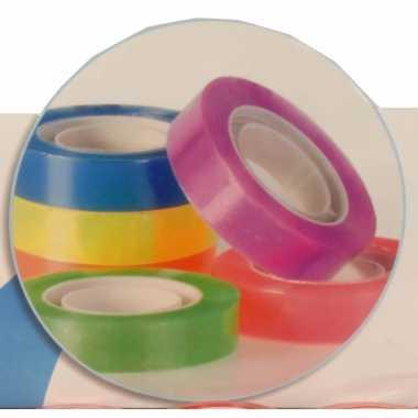 Gekleurd plakband 6 rollen