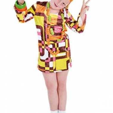 Gekleurde 70s jurkje voor kinderen