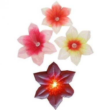 Gekleurde bloemen speldjes met licht